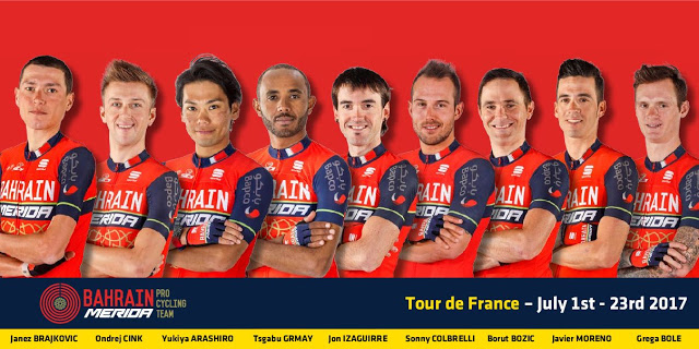Debut of BAHRAIN MERIDA Pro Cycling Team at Tour de France 2017