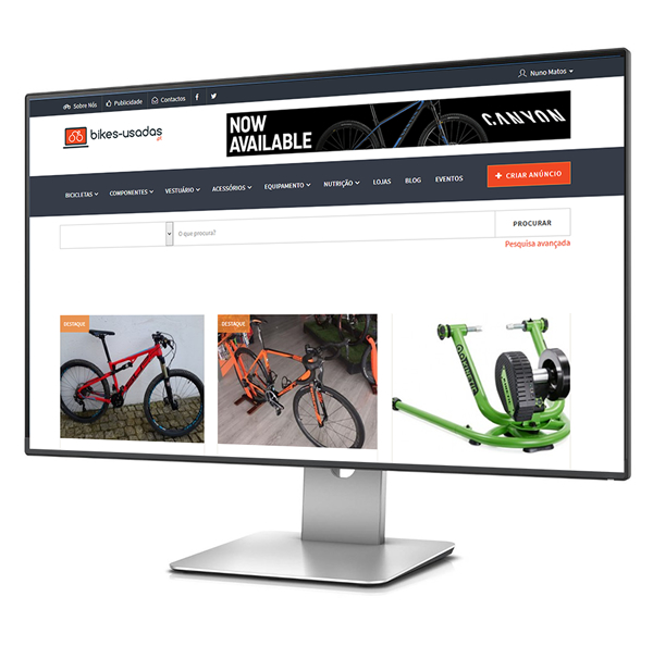 The main Online Bike MarketPlace in Portugal has a New Website