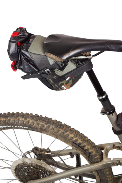 Introducing the Vole Seat Pack, designed for lightweight trail bikepacking when using a Dropper Post