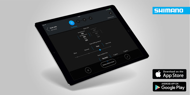 Shimano New E-TUBE Software allows Di2 customisations by tablets and mobile devices