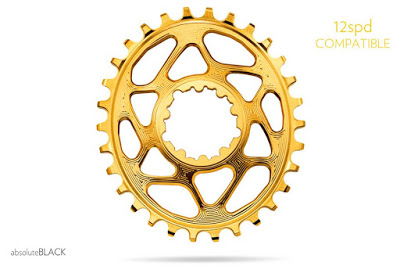 AbsoluteBlack launched the New Gold 12 Speed Compatible Oval ChainRings