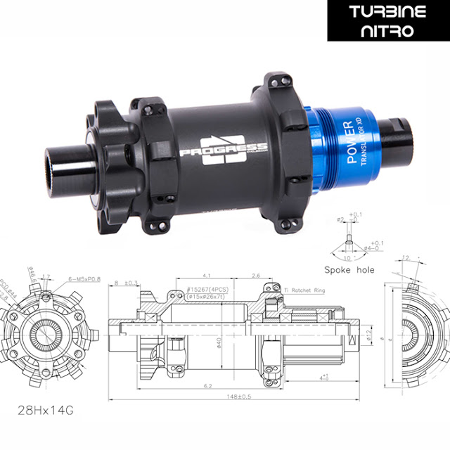 New Turbine NITRO MTB Hubs from Progress