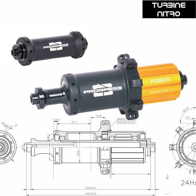 New Turbine NITRO Road Hubs from Progress