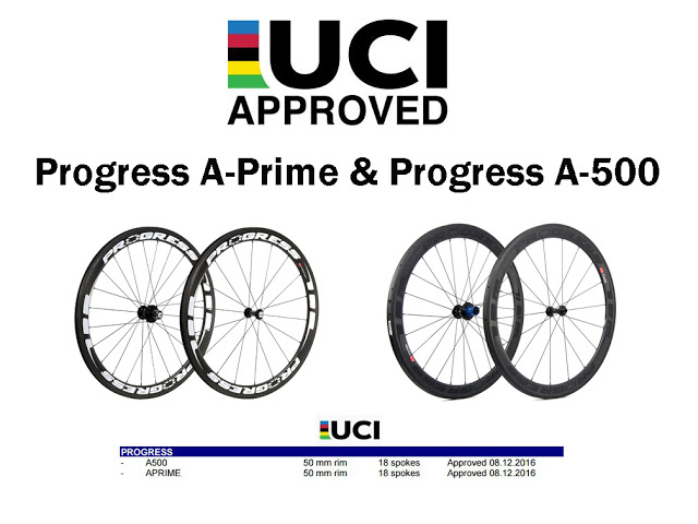 Progress received UCI Approval for their Road Wheels