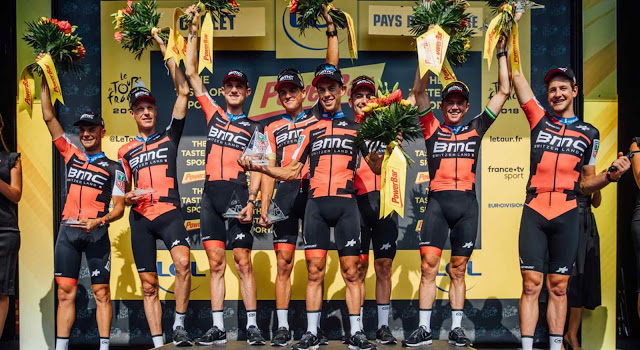 BMC Racing Team Proves TTT Dominance and Van Avermaet Moves Into Yellow on Tour de France Stage 3