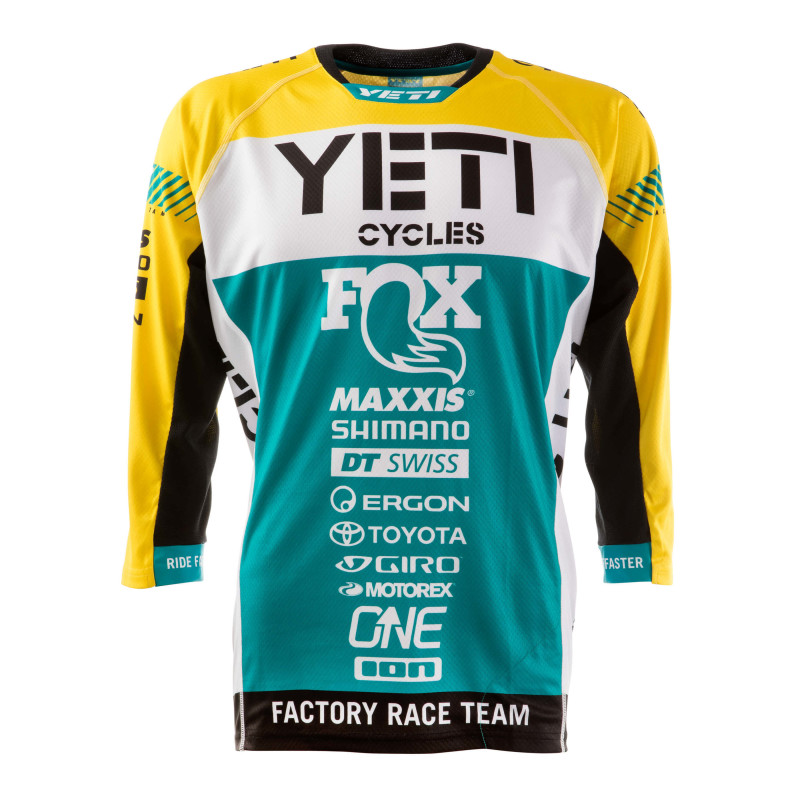 Old school meets New school, the Retro Yeti/Fox Factory Team Replica Jersey