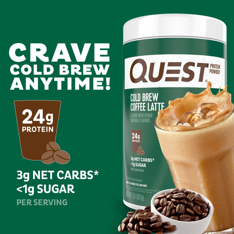 Introducing Quest Nutrition Cold Brew Coffee Latte Protein Powder!