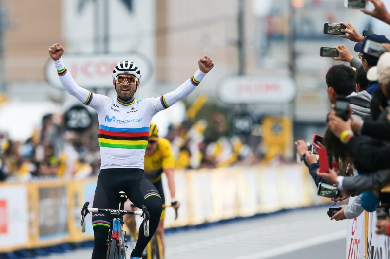 Valverde, Movistar Team enjoy themselves in Saitama