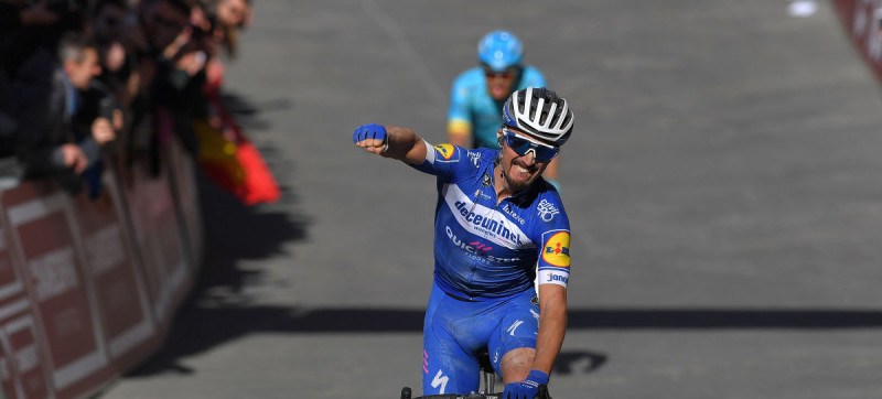 Julian Alaphilippe Powers to Victory at Strade Bianche Debut