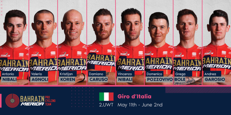 A Strong and Motivated Team for the Giro d'Italia