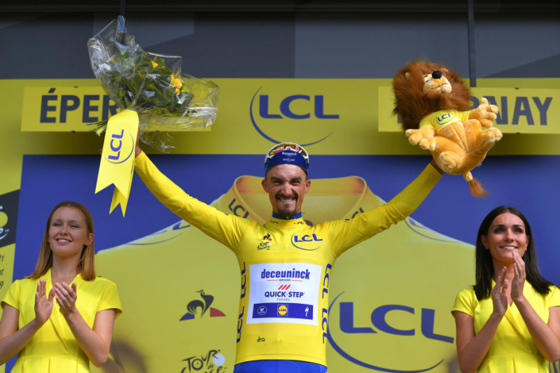 Alaphilippe Leads the Tour de France after Magnificent Solo Win