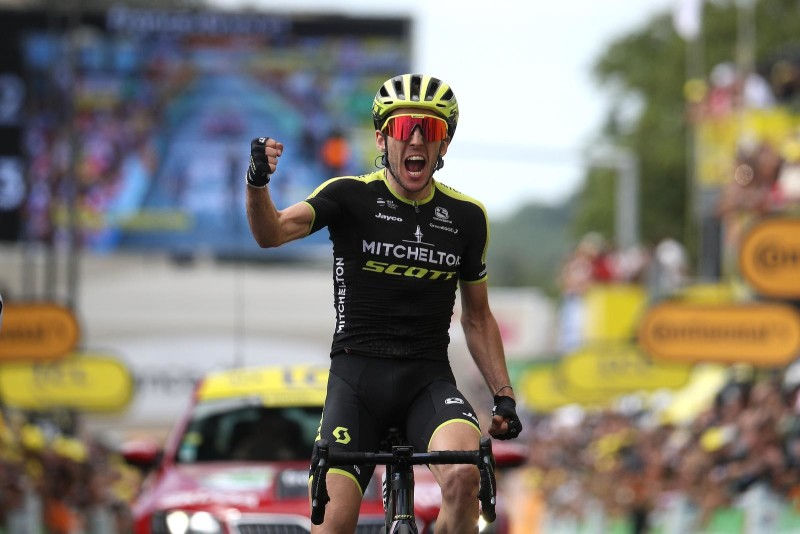 Simon Yates Sprints to his First Tour de France Victory on Stage 12