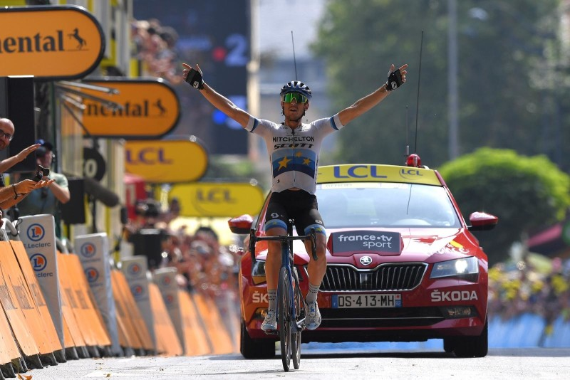 Trentin Solos to Fourth Victory for Mitchelton-SCOTT on Stage 17 of the Tour de France