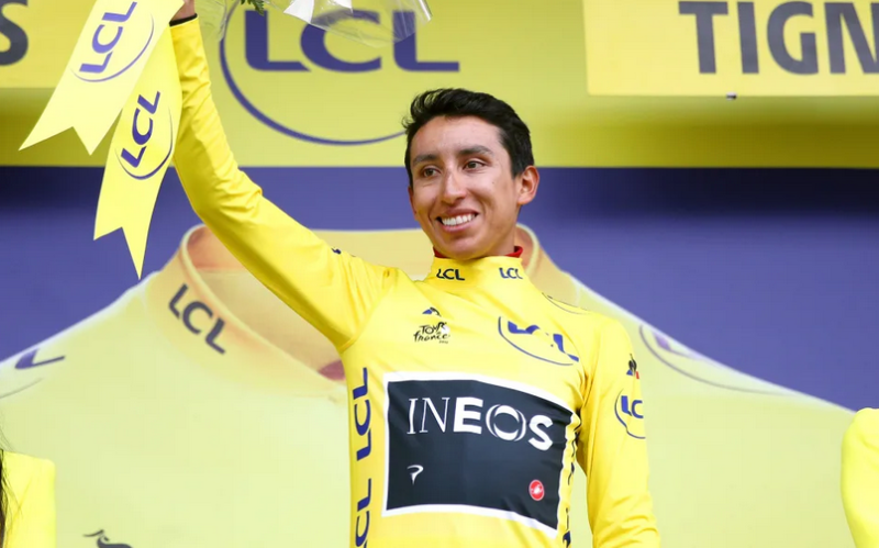 Bernal Rides Into Yellow