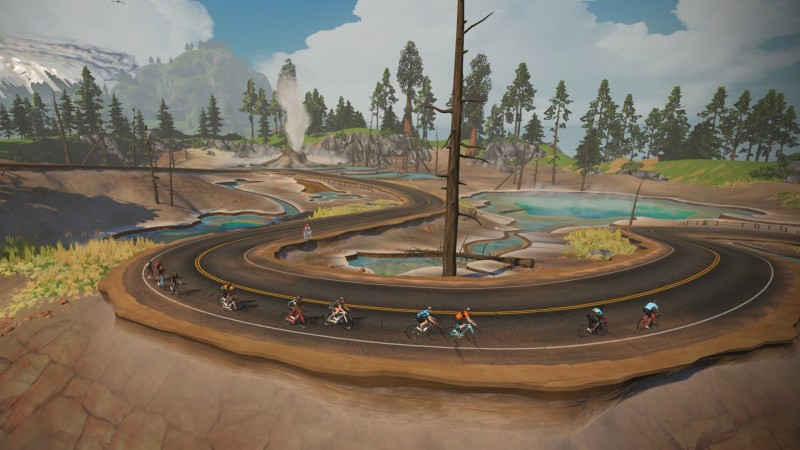Ride with Giants in Zwift Titans Grove