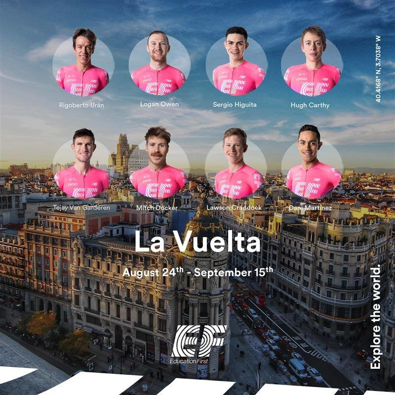Urán Captains EF Education First Pro Cycling Vuelta Team
