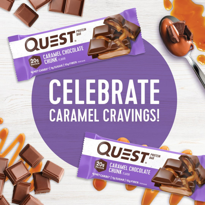 New! Quest Caramel Chocolate Chunk Protein Bar!