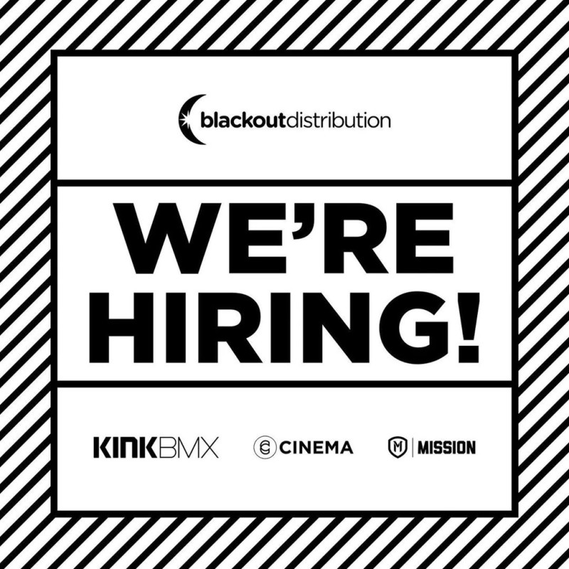 Job Offer by Blackout BMX - Customer Service and Web Store Associate