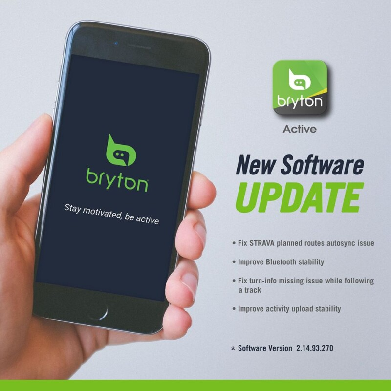Bryton Released a New Update for the Bryton Active App