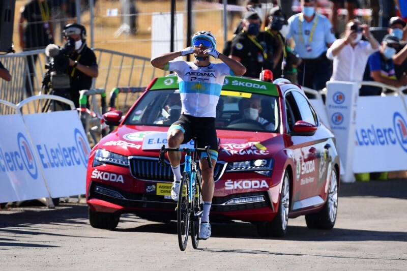 Tour de France. Stage 6. Huge Success of Alexey Lutsenko Atop Mont Aigoual