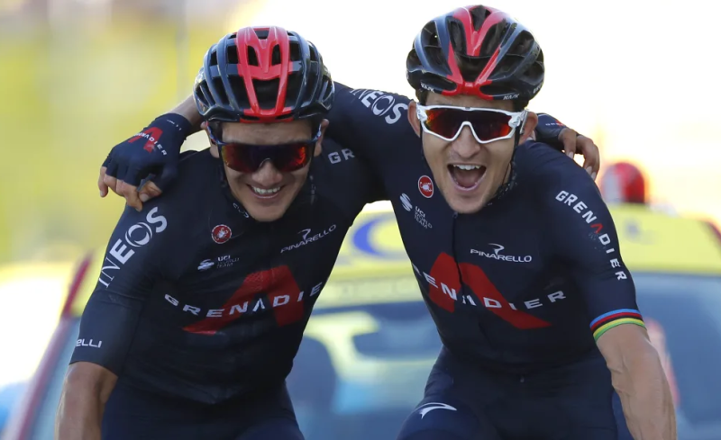 Tour de France: INEOS Grenadiers Seal 1-2 Finish on Stage 18