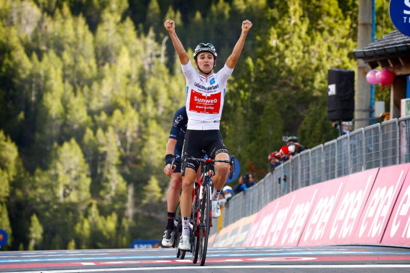 Team Sunweb Take Stage Win in Giro Mountains with Jai Hindley and Move Into Pink Jersey with Wilco Kelderman