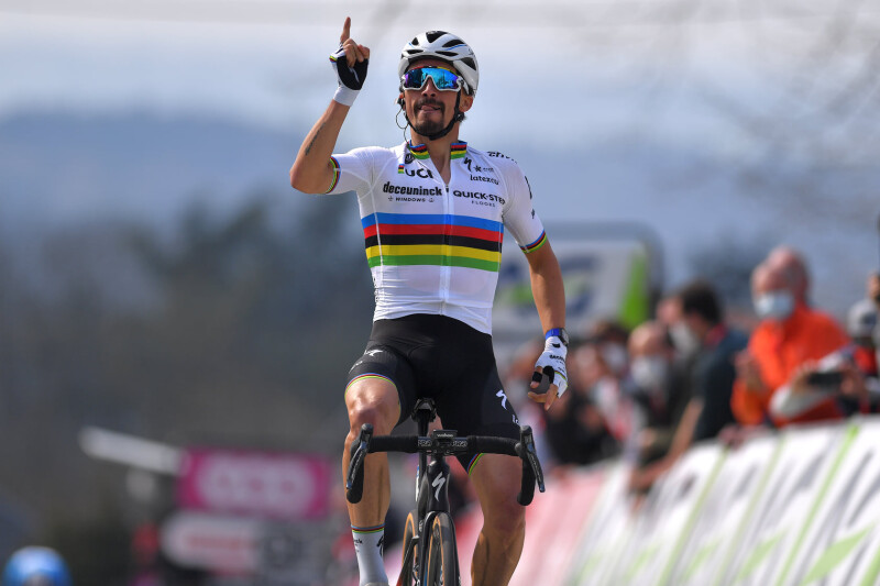 World Champion Julian Alaphilippe Wins Flèche Wallonne