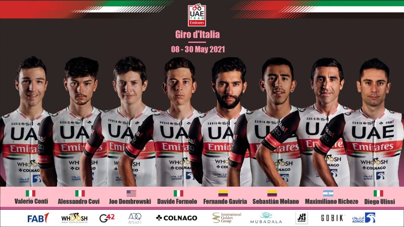 Giro d'Italia: UAE Team Emirates Named for First Grand Tour of the Season