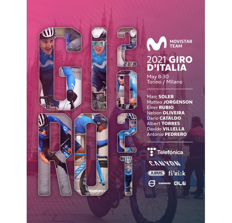 Movistar Team Announces 2021 Giro d'Italia Lineup