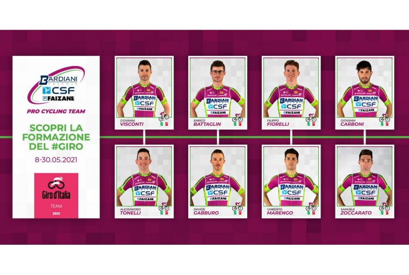 Bardiani CSF Faizanè: Visconti and Battaglin the Leaders for the Giro