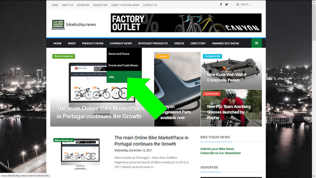 New Section on BikeToday.news – Job Offers
