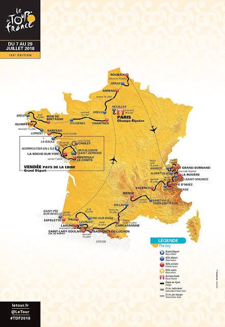 2018 Tour de France: new places to build